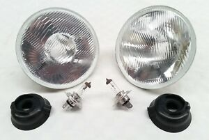 CHEVROLET CAMARO PONTIAC CHEVELLE 7 INCH HEADLIGHTS LAMPS H4 2 BULBS INCLUDED