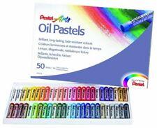Oil Pastels by Pentel Artist's Pastels - Pack of 50 vivid colours