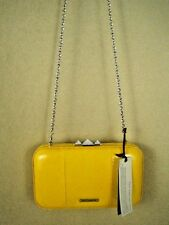 Rebecca Minkoff Yellow Patent Leather NWT Vincent Minaudiere Clutch Shoulder Bag