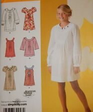 2715 Simplicity Girls Spring Summer Boho Dress Dresses Size 7 8 10 12 14 16