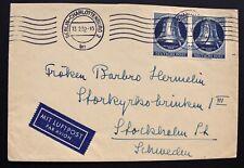 Berlin 1951 - Mi.Nr. 85 MEF auf Luftpost-Brief von Berlin-Stockholm