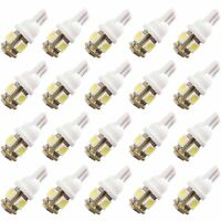 20pcs T10 5050 5SMD White LED Car Light Wedge Lamp Bulbs Super Bright DC12V