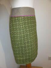 White Stuff green dotty boucle pencil skirt 8 VGC wool blend casual
