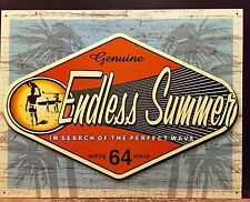 Endless Summer Perfect Wave TIN SIGN  surf Beach Vtg Metal Bar Wall Decor