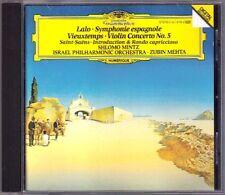 Shlomo MINTZ LALO VIEUXTEMPS SAINT-SAENS Zubin MEHTA CD Symphonie Espagnole