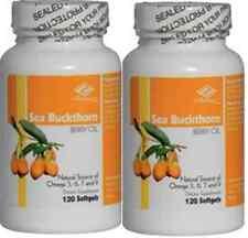 2 Sea Buckthorn Berry Oil 120 Softgels/bottle Natural Source of Omega 3,6,7 & 9