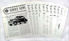1946 Chevy Service News 11 issues Shop Manual Revisions Chevrolet Car and Truck