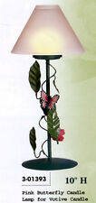 """New Butterfly Rose 10"""" Votive Candle Holder Lamp Butterflies Roses Candles"""