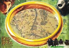 Movie Poster~The Fellowship of Ring Map Original Film Theater Sheet 27x38~1