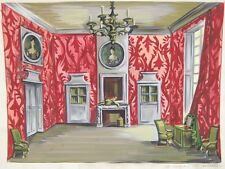Delfau Painting Stage Set Scenic Design Le Joueur Regnard Interior of Room
