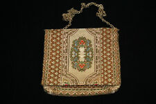 VINTAGE 1940'S ITALIAN METALLIC BROCADE PURSE 8 INCHES BY 7 1/2 INCHES