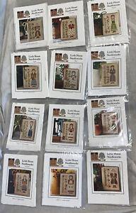 CALENDAR GIRL SERIES *Complete 12-Cross Stitch Patterns Little House Needleworks