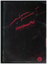 Detroit Grand Prix Program 1984 Formula 1 Auto Racing