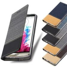 Wallet Case for LG Book Cover Jeans Look Flip Etui Stand