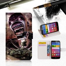 Iron Maiden Wallet Case Cover For Huawei Nova Plus -- A014