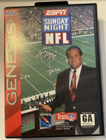 ESPN Sunday Night NFL (Sega Genesis, 1994) COMPLETE, TESTED