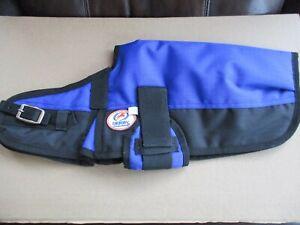 "Waterproof Dog Vest - Derby Originals 600D, Small 12"" to 14"" Blue, New Open Box"