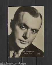 Charles Boyer Vintage Photo Trading Card Warner Bros 1950s #132