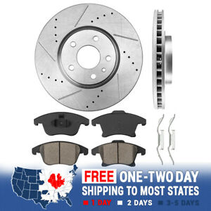 Front Brake Rotors And Ceramic Pads For 2013 2014 - 2016 Ford Fusion Lincoln MKZ