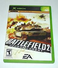 BATTLEFIELD 2 MODERN COMBAT MICROSOFT XBOX VIDEO GAME, 2005 w/MANUAL & CASE