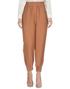Pantaloni Donna VIOLET ATOS LOMBARDINI Made in Italy H112 Marrone Tg 44 46
