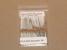 82 Ohm 1/4 Watt   5% Carbon Film Resistors (50pcs)  New Stock  USA Seller