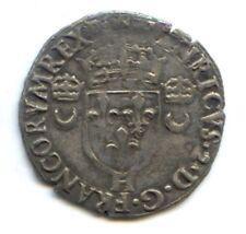 FRANCE HENRI II (1547-1559) DOUZAIN AUX CROISSANTS 1554 H LA ROCHELLE