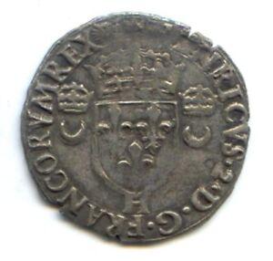 France Henri II (1547-1559) Douzain Of Croissants 1554 H The Rochelle