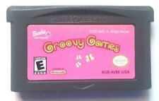 Gameboy Advance Game Plays on GBA SP DS DSL ~ BARBIE GROOVY GAMES ~ 9 Mini-games