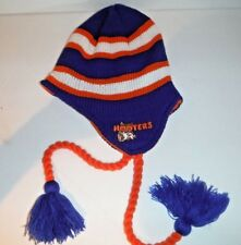 Vintage Hooters Restaurant OWL Beanie Toque Knit Hat With Tassels New One  Size. d043a185f52e