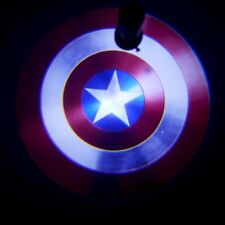 2x Captain America shield badge Car door projector Welcome logo shadow LED light