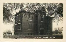 Harlan Iowa~Park School House~Homes Behind~1920s Real Photo Postcard~RPPC