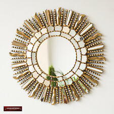 "Peruvian Gold Sunburst Wall Mirror 23.6"", Handmade Vanity Mirror for wall decor"