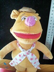 FOZZIE BEAR 30cm plush soft toy Disney The Muppets sesame Street vintage EUC