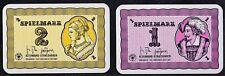 1 - 10 Spielmark Spielkarte