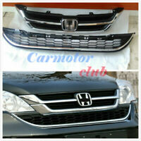 New Front Upper + Lower Bumper Grille Grills For Honda CRV 2010-2011
