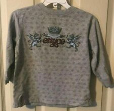 Boys enyce Size 3T Gray Long Sleeve Casual Crown Shirt Top SL