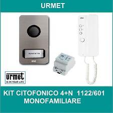 URMET 1122/601 KIT CITOFONICO MOFAMILIARE E BIFAMILIARE 4+N URMET MIKRA MIRO