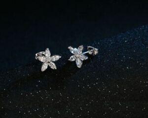 Boucles d'Oreilles Femme Fleur en Cristal Transparent  - Bijoux des Lys