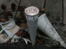 Chic Antique Spitztüte Teelichthalter weiß Shabby Landhaus Vintage Brocante