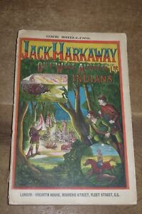 1870 JACK HARKAWAY OUT WEST AMONGST THE INDIANS PENNY DREADFUL BIND-UP RARE *