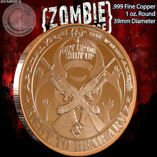 """""""Right To Bear Armz"""" 1oz.999 Copper Round Part of the ApocalypeZe Series Limited"""