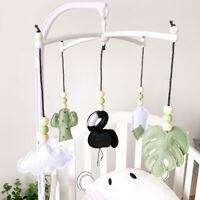 Felt Cotton Monstera Flamingo Baby Mobile Rattle Crib Bell Holder Toy Home Decor