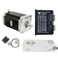Free Ship 1Axis Nema34 Stepper Motor 1600oz.in&Driver DM860A CNC Spindle