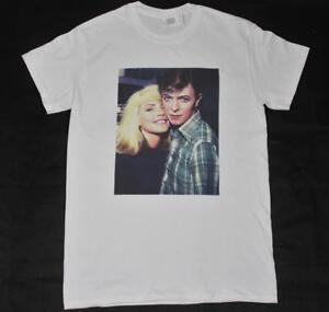 David Bowie & Debbie Harry White T-Shirt S-3XL vintage retro blondie rock n roll