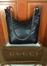 Gucci Black Galaxy Crocodile Handbag Leather Hobo Shoulder Crossbody Bag