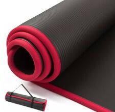 Yoga Mat Non-Slip Extra Thick for Fitness Pilates Exercise with Carrying Strap