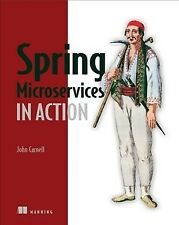 Spring Microservices in Action, Paperback by Carnell, John, Brand New, Free s...
