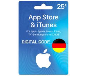 iTunes Guthaben 25 EUR Prepaid Code 25€ - Apple Store Digitel Key [nur für DE]