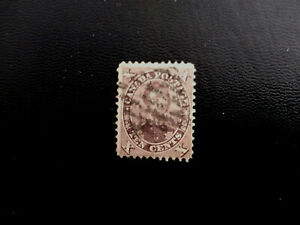 Canada stamps no.17 Prince Albert  Black red lilac with stich watermarked cancel
